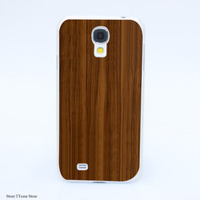 4122CA Wooden pattern Hard Transparent Case Cover for Galaxy S2 S3 S4 S5 & Mini S6 S7 & edge Plus