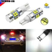 Extremely Bright High Power Projector W16W T10 T15 LED Backup Reverse Light Bulbs For 2016-up Honda Civic, Xenon White Color