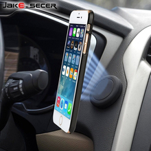 Jake.Secer Mobile Phone Car Holder Magnetic 360 Universal Car Cell Phone Holder Magnet for iPhone 6s 6 7 Plus for Samsung S8 S7(China)