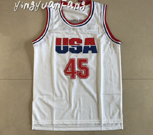 yingyuanFang Donald Trump 45 USA Basketball Jersey 2016 Commemorative Edition White  Cheap Throwback Jerseys Sleeveless Breath