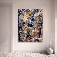 QCART Wall Art Blue Poles 1952 Jackson Pollock Canvas Painting For Living Room Home Decoration Oil Painting On Canvas