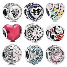 7e9c27cb236f Venta caliente fiesta cuentas espero que Flores amor corazones de cristal  granos de los encantos de Pandora mujeres pulseras y b.