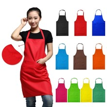 2017 New Sale Black Red Cooking Baking Aprons Kitchen Apron Restaurant Aprons For Women Men Home Sleeveless Apron(China)