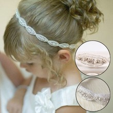 New Lovely Baby Girls Princess Flower Hairband Kids Children Rhinestone Headband Headwear Elastic Hair Band Accessories
