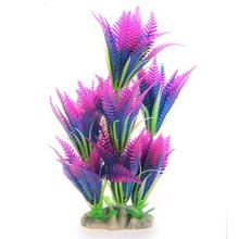 Artificial Short Coconut Tree Grass Water Aquarium Decor Colorful Plastic Decoration(China)