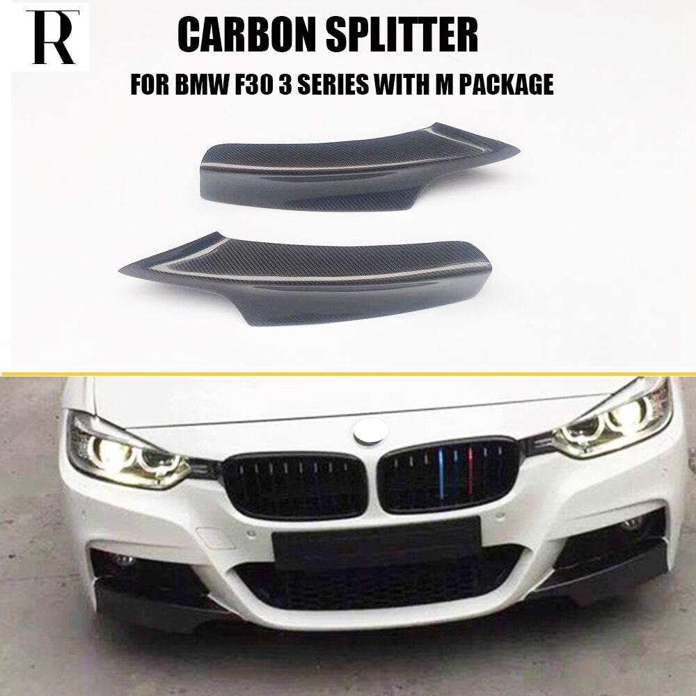 Carbon Fiber For BMW F30 Splitter Front Bumper Fit Sedan W// M-Tech M Sport 12-17