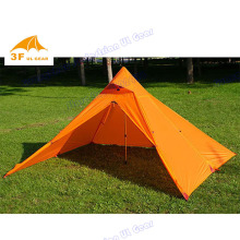 Silicon coating 2 persons  3F Pyramid 15D nylon Flysheet ultra-light  high quaility camping outdoor tent