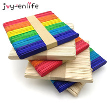 JOY-ENLIFE Wooden Popsicle Stick Kids Hand Crafts Art Ice Cream Lolly Cake DIY Making Funny Gift Baby Shower Birthday Supplies(China)