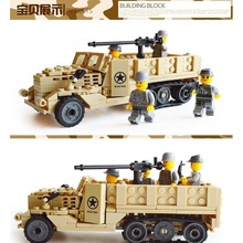 Century Military USA M2 Half Track War Vehicle 3D Model Airborne Troop figure Building Block Brick Toy Kazi KY82003
