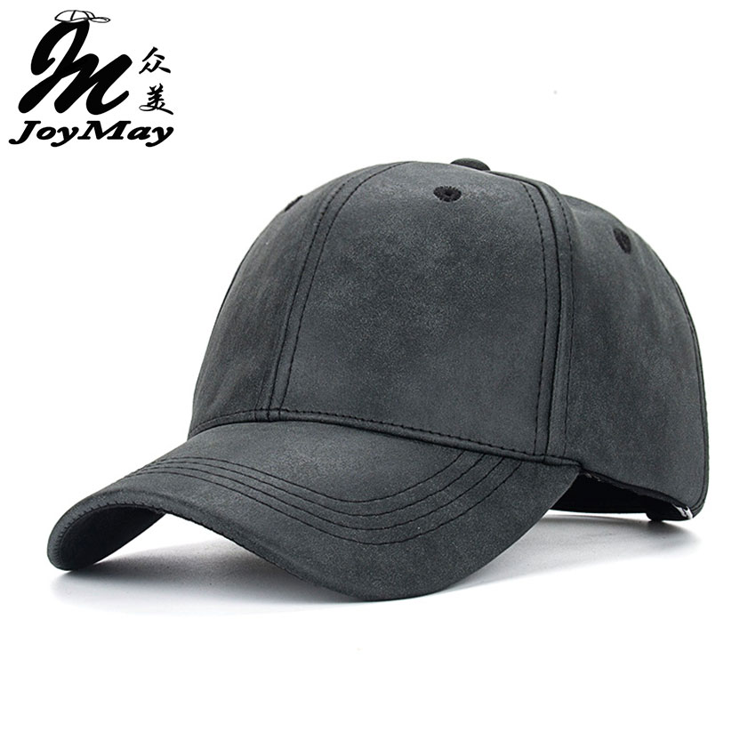 Joymay 2016 NEW PU Faux Leather Baseball Cap Hip Hop caps gorras Snapback Hat Biker Trucker Outdoor For Men women wholesale B385<br><br>Aliexpress