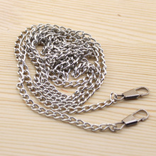 20pcs/lot 1*120cm DIY Silver Color Metal Purse Frame Chains Straps Bag Sewing Sewer Craft Accessories FF28-1