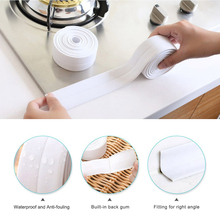 3.2m length Waterproof Oven Corner Line Sticker Transparent Adhesive Anti-moisture Protective Tile Stickers For Kitcken Bathroom