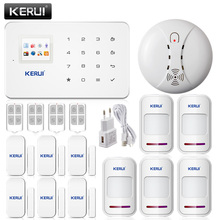 KERUI Phone Remote Control Android IOS APP Security Alarm System GSM Alarm System+5 motion detector+6 door/window open sensor
