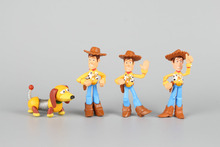 4pcs Toy Story Woody and Slinky Dog Buddy Pack Mini Figures
