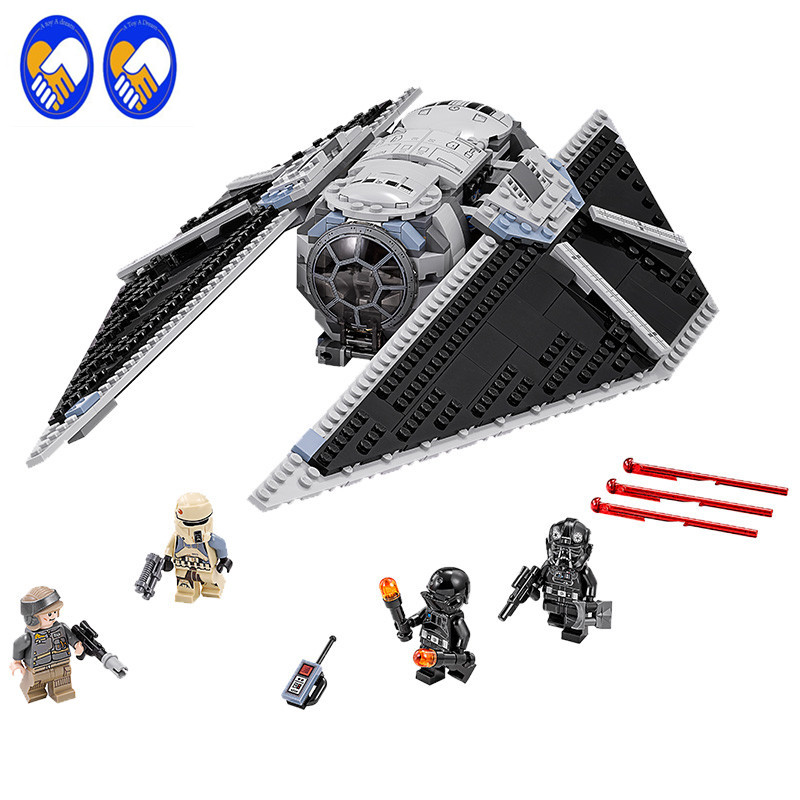 A Toy A Dream Marvel Avengers 543Pcs 05048 Star War Seiers The TIE Striker Building Blocks Bricks Figures Toys For Children <br>