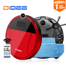 2017 Smart Robot Vacuum Cleaner for Home Sweeping Dust Gyro navigation Planned Clean mop WIFI Phone RC camera DIQEE 360 350 A3