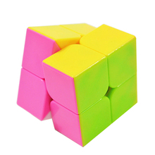 Brand New YJ Professional 2x2x2 Cube Puzzle Cubes Challenge Gift Educational Toy For Kids Child With Original Box Colorful