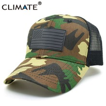 CLIMATE 2017 Men Youth Summer Cool Camouflage Army Mesh Caps Fishing Hunting Adult Adjustable Bucket Trucker Baseball Caps Hat(China)