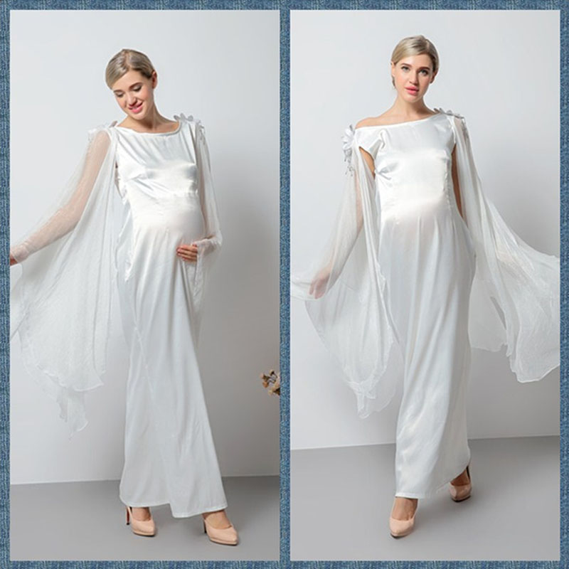 2017 New Arrival Maternity Dress for Photo Shoot Maternity fashion Gown long hem Maternity Photography Props pregnant vestido<br>