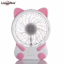 Cartoon Creative Portable Mini Fan 3 Speeds Cooling Desktop Fans Rechargeable Personal Handheld USB Fan for PC Computer Notebook