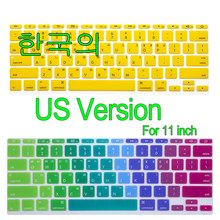 "Korean US Version Silicone Soft color Keyboard Cover Skin for Mac Book Air 11"" 11.6 inch For macbook(China)"