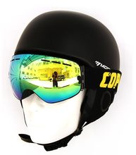 COPOZZ double UV400 Anti-fog Big Ski Mask Glasses Men Women Snow Snowboard with Night Vision Lens skate Goggles Skiing GOG-201(China)