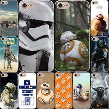 Star Wars Yoda BB-8 Droid Robot Hard White Cover Case for iPhone 7 7 Plus 6 6S Plus 5 5S SE 4 4S