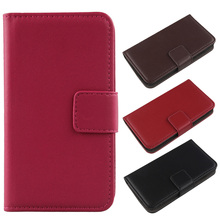 Exyuan Book Design Flip Genuine Leather Mobile Phone Cover For Argos Cat B15 Q 4 Inch