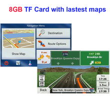 GPS accessories 8G gps maps sd card 2016 latest Map for WinCE car gps navigation map Europe/Russia/USA/CA/AU/Israel Car gps map(China)