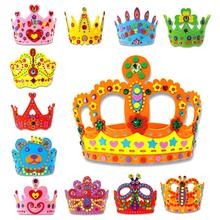 3D EVA Handmade Crown Craft Gifts Kits Birthday Crown DIY Hat Craft Toy Hand Work Training Educational Kids Children Party Gift(China)