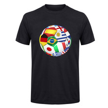 Countries flag footballs print 3D T Shirts men Spain/Brazil/Argentina/Italy flag futbol T-Shirts 3D simple Cotton Top tee(China)