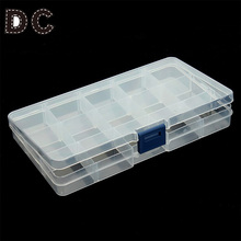 15 Slots Adjustable Jewelry Tool Box Organizer Storage Beads Box Jewelry Finding Boxes Plastic Packaging Boxes F2414
