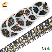 SMD 5050 LED Strip Black PCB IP65 Waterproof DC12V 60LED/m 300LEDs Flexible LED Light White, Warm white, Red, Green, Blue, RGB(China)