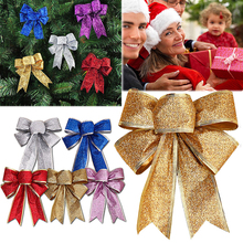 1pc 15cm Christmas Tree Bows Bowknot Ornament Xmas Bow For Party Gift Present Decoration