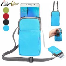 Outdoor Waterproof Nylon Pouch Cover Case for Samsung Galaxy Note FE MSM8996 Note 5 4 3 2 Phone Crossbody Wallet Waist Bag Capa(China)