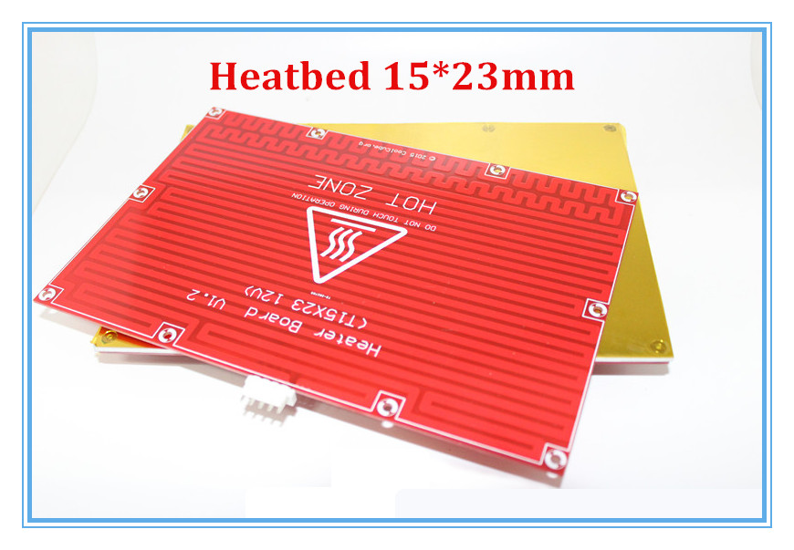 2 in 1 PCB Board RepRap mendel PCB Heated Bed MK2B for Mendel 3D Printer Hot Bed 150*230mm 12V Heatbed T207<br><br>Aliexpress