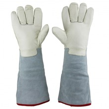 "U.S. Solid 45 cm 17.7"" Protective Gloves for Cryogenic Dewar Liquid Nitrogen Container(China)"