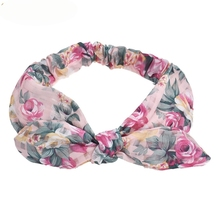 Newly Design Rose Flower Headbands Women Plaid Hair Bands Causual Female Hair Accessories Aug3 Drop Shipping(China)