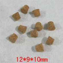 12*9*10mm mini Test Tube Glass Bottle Stoppers Small Soft Stop Corks Free Shipping(China)