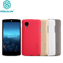 for LG Nexus 5 cover Case NILLKIN Super Frosted Shield Case For Google Nexus 5 With free Screen Protector and Retailed Package