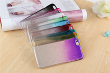 100 pcs Wholesale 3D Water Drop Case For Coques iPhone 6 Cases Clear Plastic Fundas Carcasa For Capa Para iPhone 6 Cover Capinha(China)