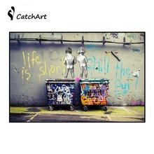 Minimalist Art  posters Banksy Art Life Is Short Chill The Duck Out Cheap Modern Canvas Art Canvas Paintings Home wall pictures