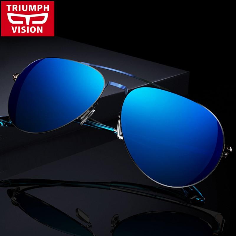 TRIUMPH VISION High Quality Polarized Sunglasses Men Metal Driving Mirror Sun Glasses Eyewear Men 2017 Lunette de soleil<br><br>Aliexpress