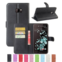 Wallet Case For HTC U Ultra HTC ocean note PU Leather Back Shell Pink Rose Green Purple Blue Black Brown(China)