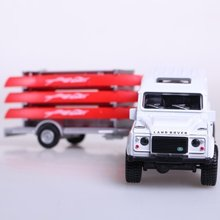 Brand ETI pull back alloy truck with sound and light off-road canoe acousto-optic toy vehicle free shipping in gift box