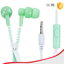 XUSHIWEI Colorful New Zipper Earphones New Arrival earsets 3.5mm In-Ear Earphones For iPhone 6 5 5s For iPad MP3 MP4