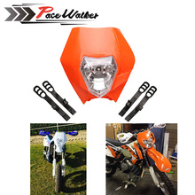 4 color Motorcycle Dirt Bike Motocross Supermoto Universal Headlight Fairing KTM SX EXC(China)