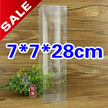 10 pcs/lot 7*7*28cm.clear box / pvc / custom logo products / retail / food box