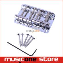 1 Set Chrome Vintage 4 String Bass Bridge Length-65mm Bass Fixed Bridge Saddle Top Load Free shipping(China)
