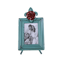 Decorative Iron Garden Ornaments, Wrought Iron Frame Crafts American Country Style 16.5*3.5*31cm